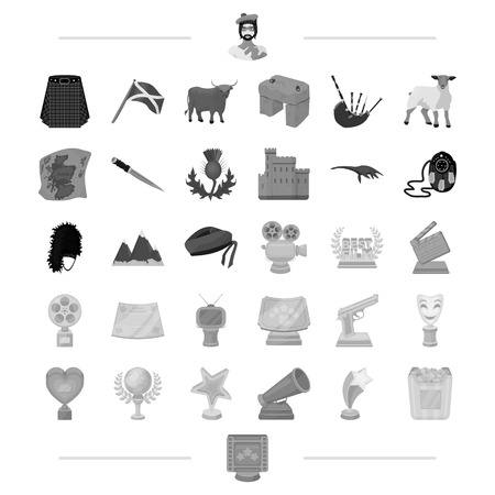 barbed: business, leisure, entertainment and other web icon in monochrome style.gift, trip, tourism icons in set collection.