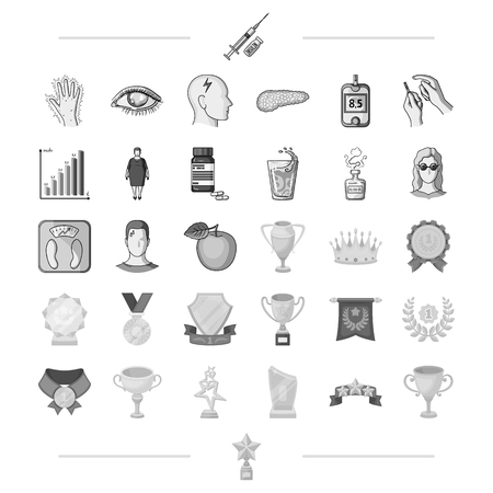 pain scale: diet, treatment, business and other web icon in monochrome style.sign, victory, award, icons in set collection.