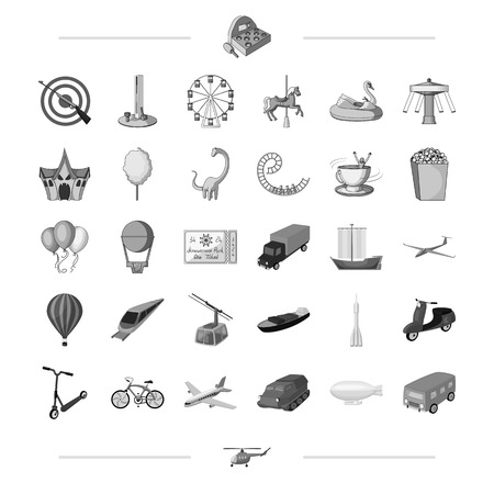 entertainment, ecology, sport and other web icon in monochrome styletransport, leisure, business, . icons in set collection.