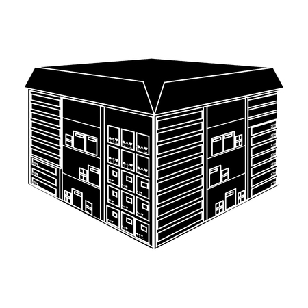 Warehouse space. Logistics and delivery single icon in black style isometric vector symbol stock illustration web. Illustration
