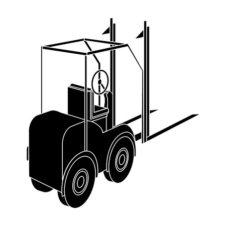 Loader for moving loads. Transportation and delivery single icon in black style isometric vector symbol stock illustration web.