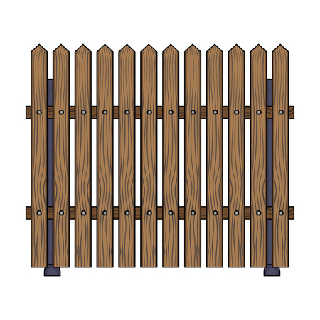 A wooden fence. A different fence single icon in cartoon style vector symbol stock illustration web.
