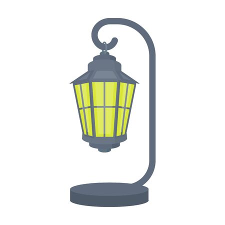 plafond: Street lights in retro style. Lamppost single icon in cartoon style vector symbol stock illustration web. Illustration