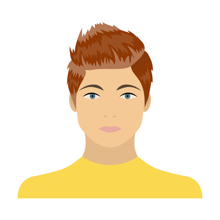 The face of a young guy. Face and appearance single icon in cartoon style vector symbol stock illustration web.