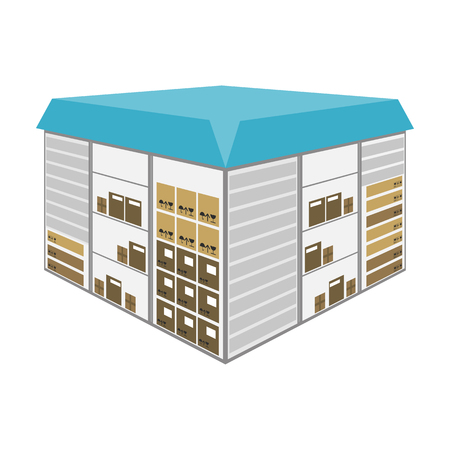 Warehouse space. Logistics and delivery single icon in cartoon style isometric vector symbol stock illustration web.