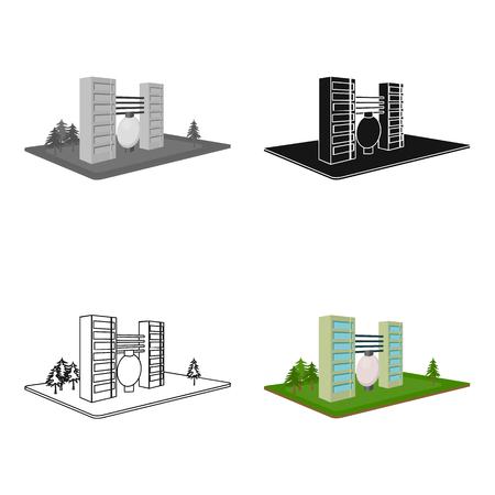 Verwerking fabriek. Fabriek en industrie enig pictogram in illustratie van de het symboolvoorraad van de beeldverhaalstijl de isometrische vector.
