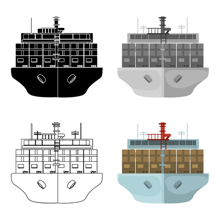 Transportation of goods by sea. Transportation and delivery single icon in cartoon style isometric vector symbol stock illustration .