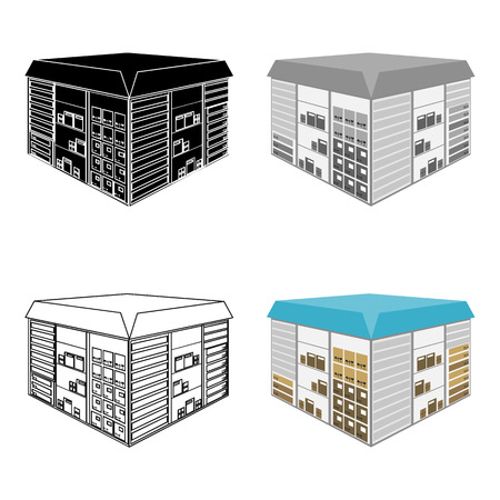 Warehouse space. Logistics and delivery single icon in cartoon style isometric vector symbol stock illustration .