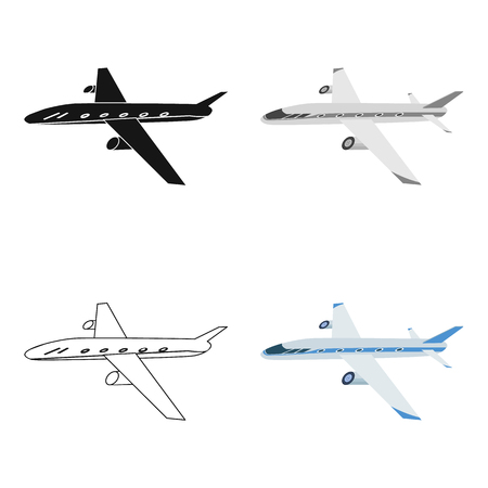 Freight aircraft. Transport and delivery single icon in cartoon style isometric vector symbol stock illustration .