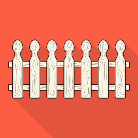A wooden fence. A different fence single icon in flat style vector symbol stock illustration web. Illustration