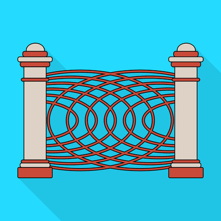 A fence of metal and bricks. A different fence single icon in flat style vector symbol stock illustration web.