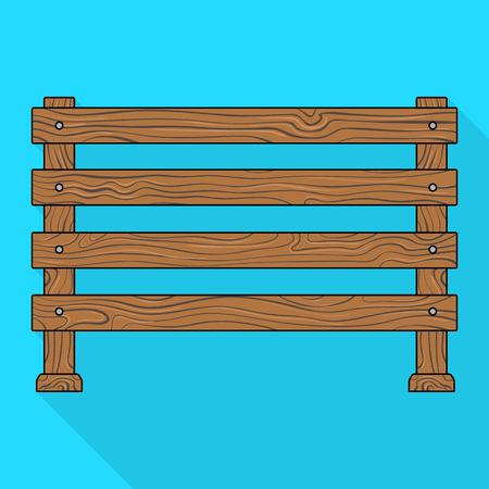 palisade: A wooden fence. A different fence single icon in flat style vector symbol stock illustration web. Illustration