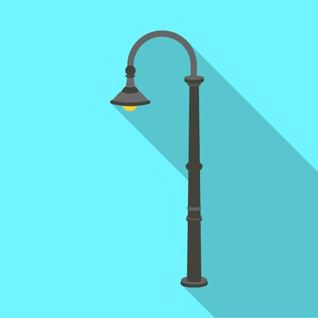 plafond: Lamppost with a conic bubble.Lamppost single icon in flat style vector symbol stock illustration .
