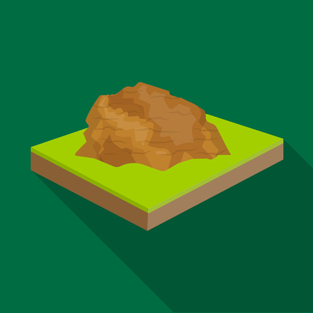 relievo: Mountains, rocks and landscape. Relief and mountains single icon in flat style isometric vector symbol stock illustration .