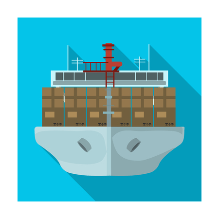 Transportation of goods by sea. Transportation and delivery single icon in flat style isometric vector symbol stock illustration .