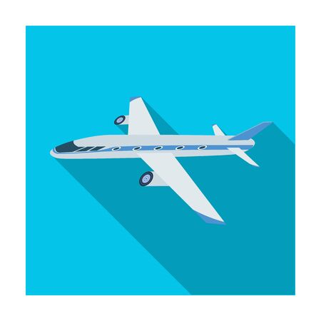 Freight aircraft. Transport and delivery single icon in flat style isometric vector symbol stock illustration .