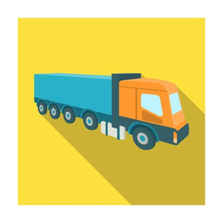 hauling: A large truck for the transport of goods. Transportation and delivery single icon in flat style isometric vector symbol stock illustration .