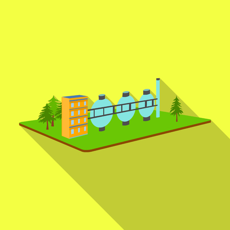 Chemical production.Fabric and industry single icon in flat style isometric vector symbol stock illustration . Illustration