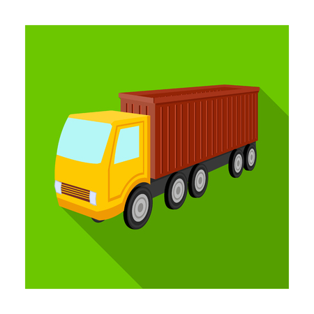 A large truck for the transport of goods. Transportation and delivery single icon in flat style isometric vector symbol stock illustration .