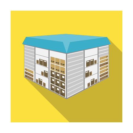 Warehouse space. Logistics and delivery single icon in flat style isometric vector symbol stock illustration .