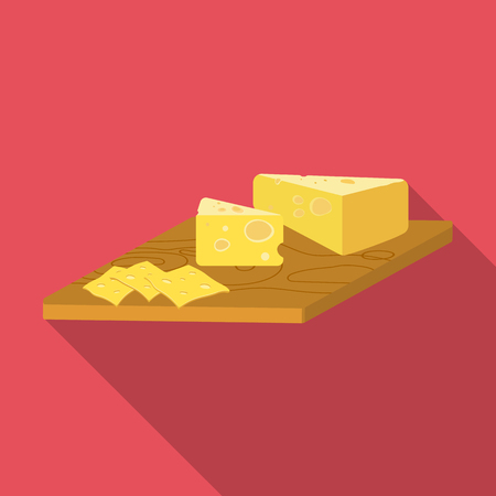 Cheese, single icon in flat style.Cheese vector symbol stock illustration . Stock fotó - 84401479