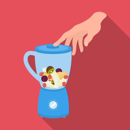 sour cream: Blender, single icon in flat style.Blender, vector symbol stock illustration .
