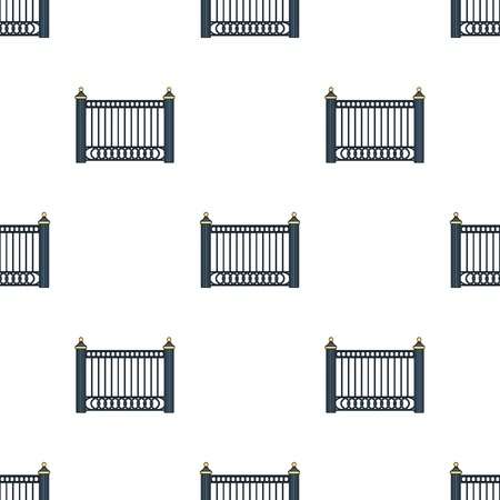palisade: A fence of metal . A different fence single icon in cartoon style vector symbol stock illustration web.