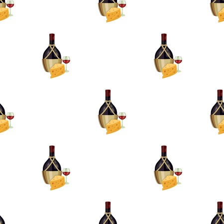 A bottle of alcohol, wine in a glass and cheese. Alcohol single icon in cartoon style vector symbol stock illustration web.