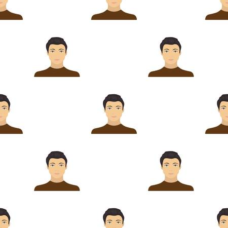 the appearance: The face of a young guy. Face and appearance single icon in cartoon style vector symbol stock illustration web.