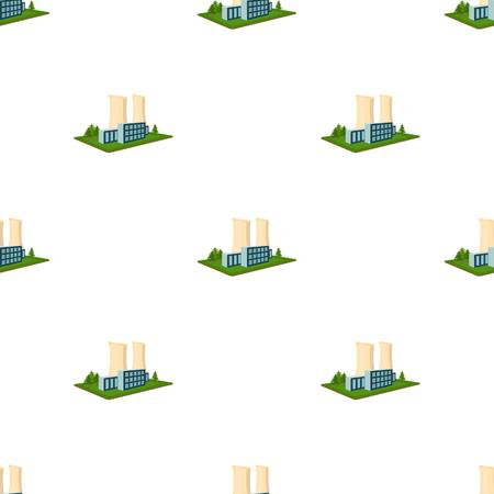 company premises: Metallurgical plant. Factory and industry single icon in cartoon style isometric vector symbol stock illustration web. Illustration