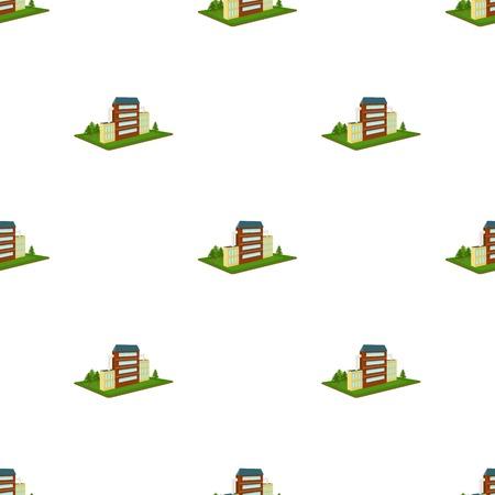 Verwerkende fabriek. Fabrieks-en industrie enkele pictogram in cartoon stijl isometrische vector symbool stock illustratie web. Vector Illustratie