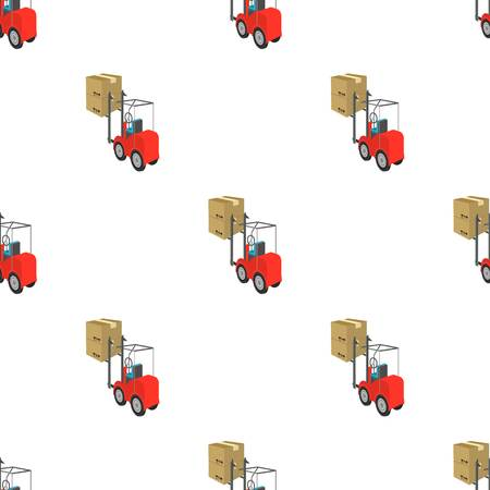 Cargo transportation by means of a loader. Transportation and delivery single icon in cartoon style isometric vector symbol stock illustration web.