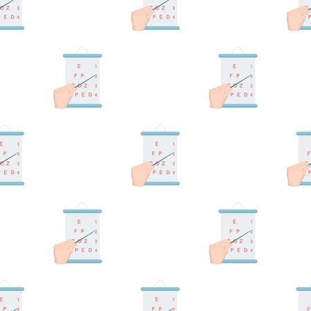 ジェスチャー、表に従ってビジョンをチェックするときのポインターが付いている手の操作。医学漫画スタイルのベクトル シンボル ストック イラストの web の 1 つのアイコン。 写真素材 - 84806937