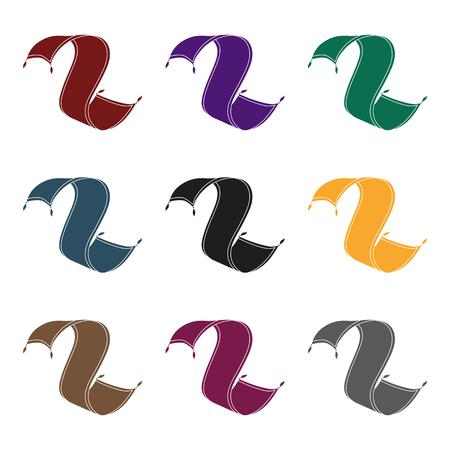 icono de la alfombra persa en el estilo de negro sobre fondo blanco. Árabes Unidos Símbolo de la ilustración del vector. Vectores