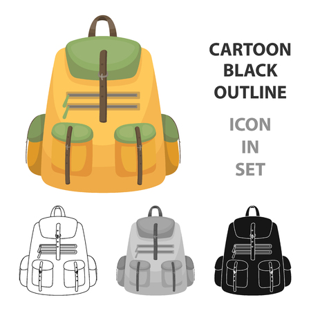 A backpack for things.Tent single icon in cartoon style vector symbol stock illustration web.