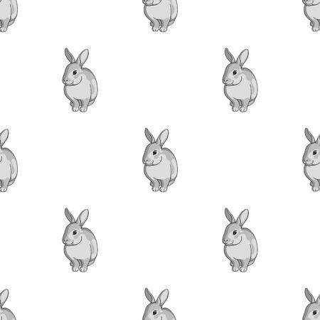 Grau Kaninchen.Animals einzigen Symbol in Monochrom-Stil Vektor-Symbol stock Illustration Web. Vektorgrafik