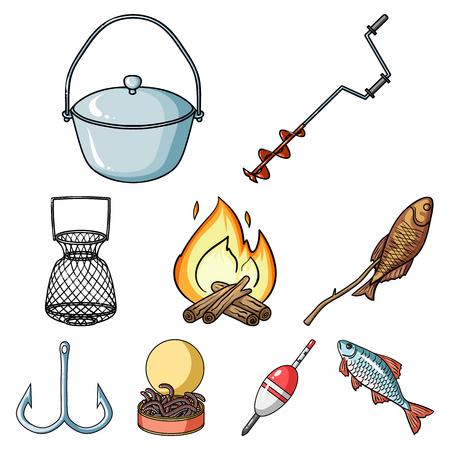 Fishing tools icon. Illustration