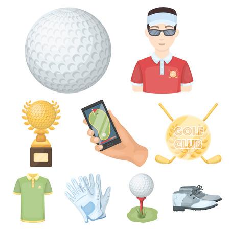 Set of golf icons.