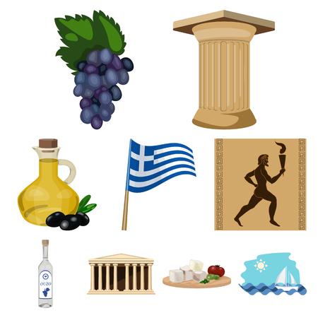 Set of Greece icons. Illustration