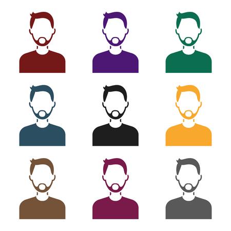 Man with beard icons.
