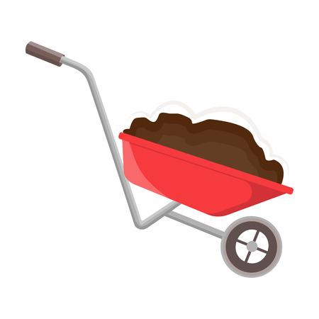 Wheelbarrow icon.