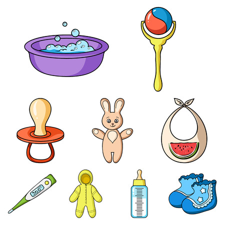 Baby born set icons in cartoon style. Big collection of baby born vector symbol stock illustration Illustration