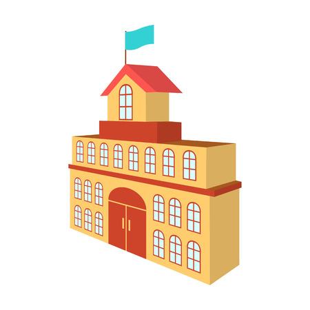 市庁舎ベクトルアイコンの建物