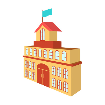 The building of the town hall vector icon