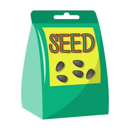 種子、漫画のスタイルで単一のアイコン。種子、ベクターシンボルストックイラストウェブ。