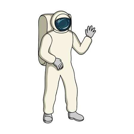 Cosmic space suit. Space technology single icon in cartoon style vector symbol stock illustration web.