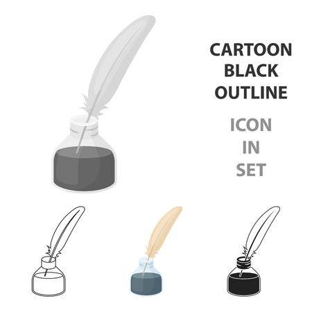 分離された漫画のスタイルで書くペン チケット アイコン  イラスト・ベクター素材
