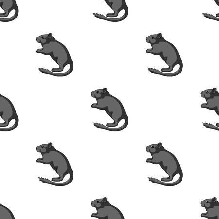 Gray hamster seamless pattern