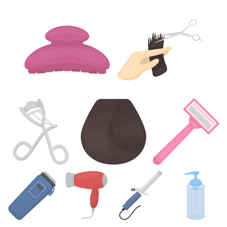 Set salon gereedschap pictogrammen. Stock Illustratie
