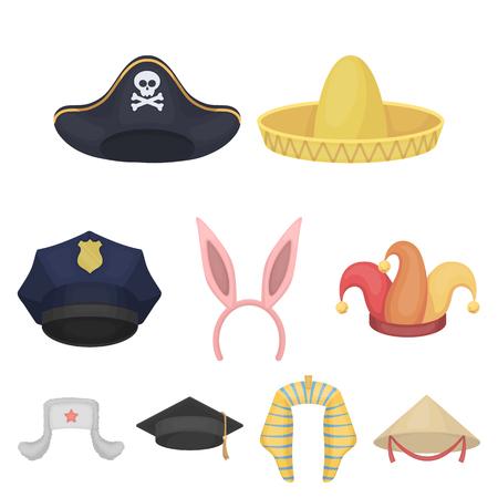 Hats set icons.
